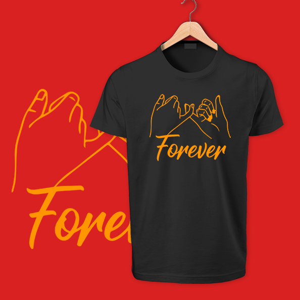 Black forever cotton tshirts
