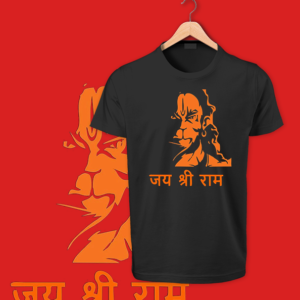 Jai Shee Ram black round neck cotton tshirts