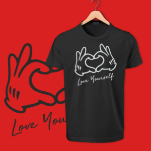 Love Yourself black tshirt