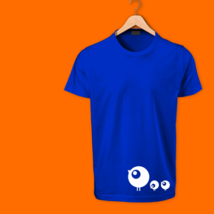 Cute Birds Blue cotton tshirts