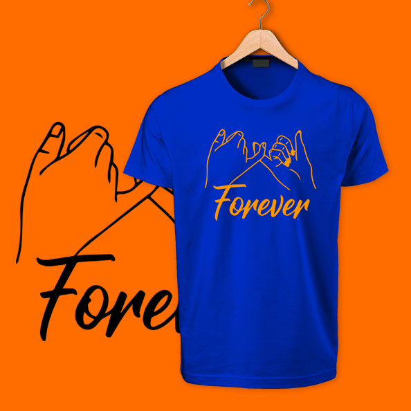 Blue forever cotton tshirts