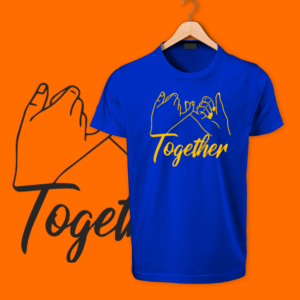 Blue Together Round neck Tshirt