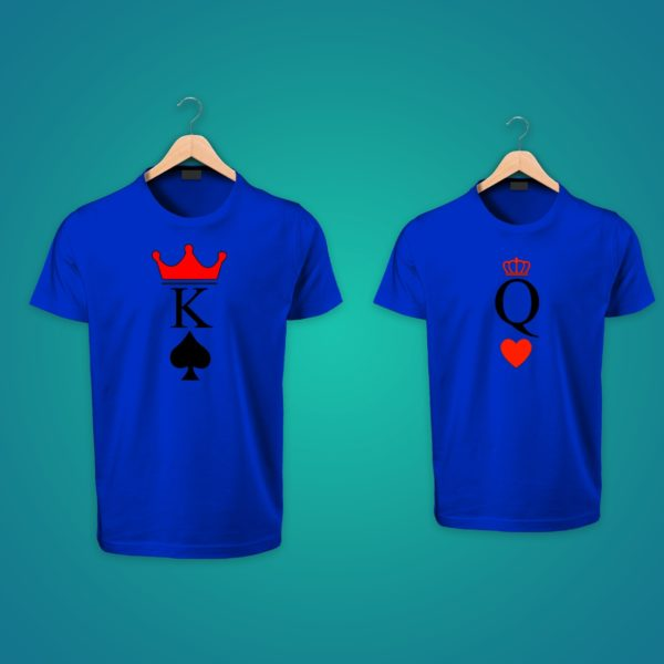 King Queen couple tshirts