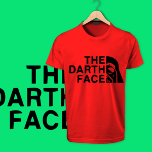 The Death Face red round neck cotton tshirt