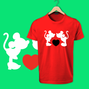 mickey mouse red tshirt