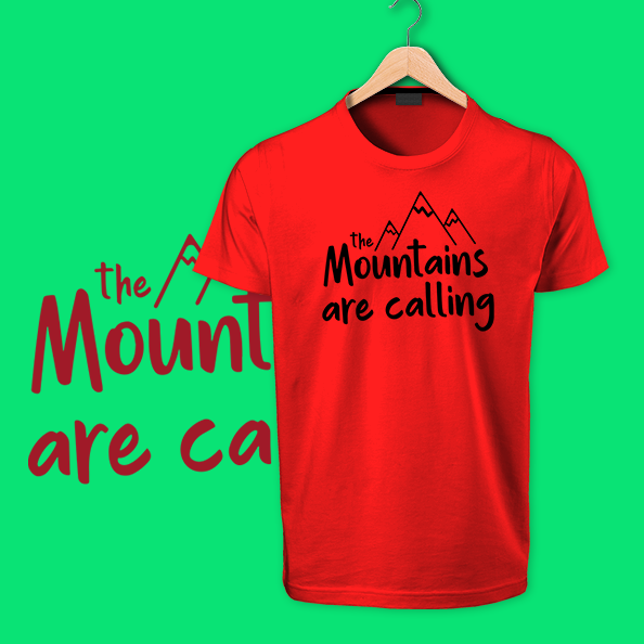 Red Mountains are Calling cotton tshrits