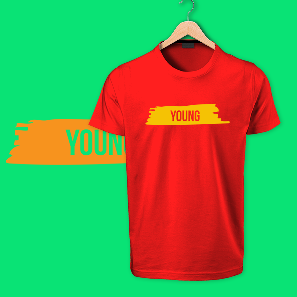 Red Young Tshirt by OTP tshirts