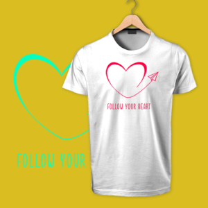 follow your heart white tshirts