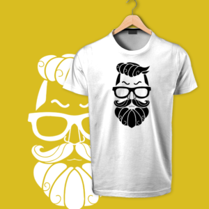 Beard man white tshirts