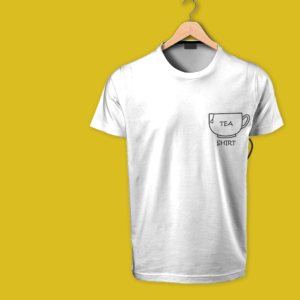 tea shirt - round neck white tshirt