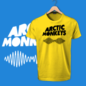 Arctic Monkies yellow tshirts