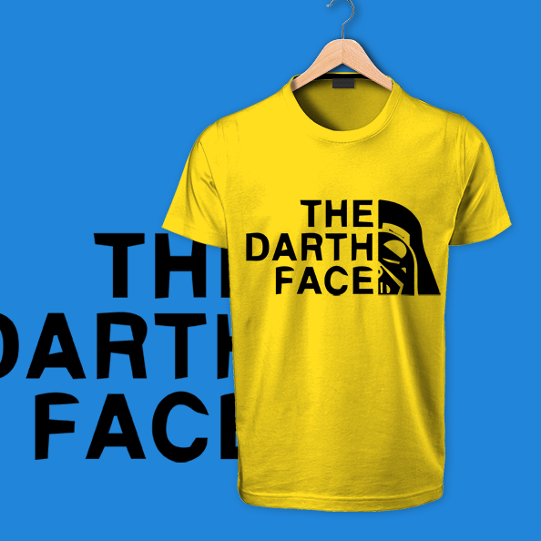 The Death Face yellow round neck cotton tshirt