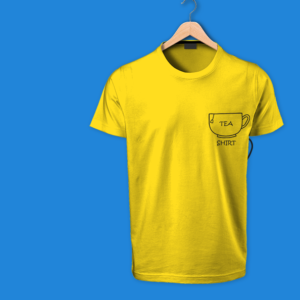 tea shirt - round neck yellow tshirt