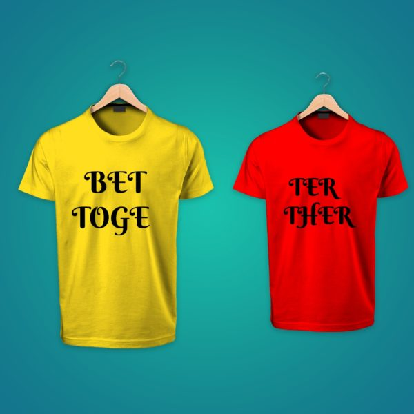 better together couple tshirt