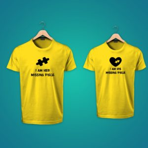 I'm her Missing Piece couple tshirts