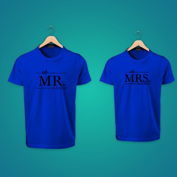 Mr. Mrs Couple Tshirts