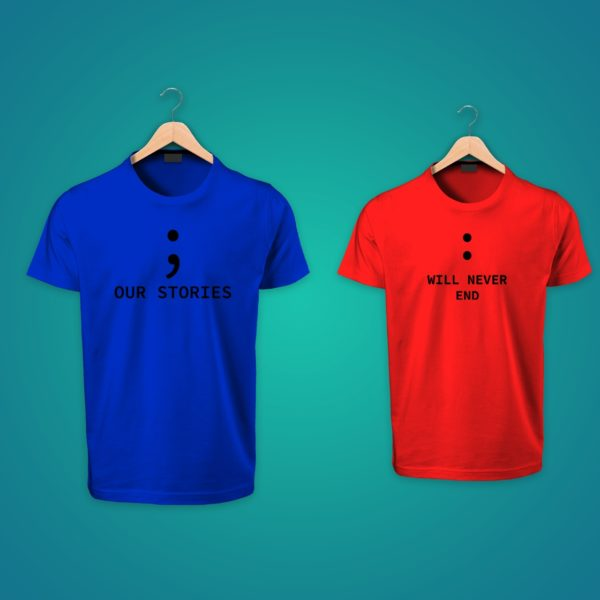 Our Story Will Never End couple tshirts