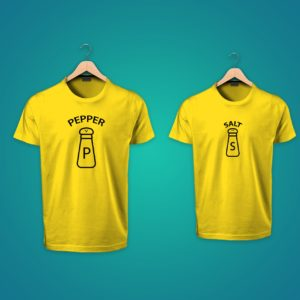 Pepper Salt Couple Tshirt
