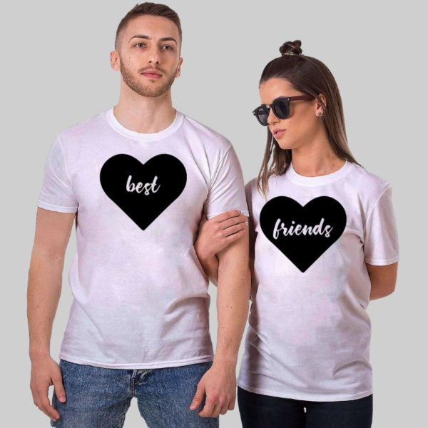 Best Friends Valentine day couple tshirt