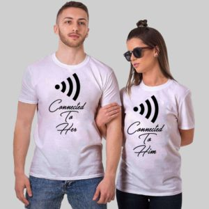 Connect to Her Couple Tshirts