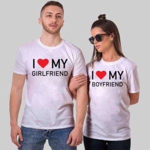 My Girlfriend Couple Tshirts - DryFit, Round Neck
